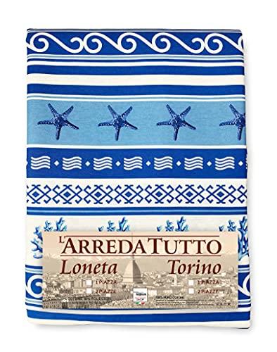 La biancheria per la casa Manta decorativa cubresofá gran foulard cubrecamas cubresofá grecia azul mar – 1 plaza