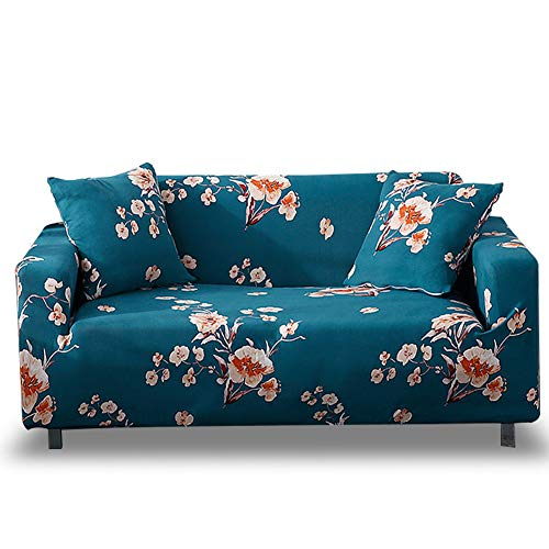 HOTNIU Funda Sofa 3 Plazas Fundas de Sofa Elasticas Fundas para Sofá Ajustables Estampada Cubre Sofa con 1 Funda de Cojín, Tres Plazas, Impresión #Nh