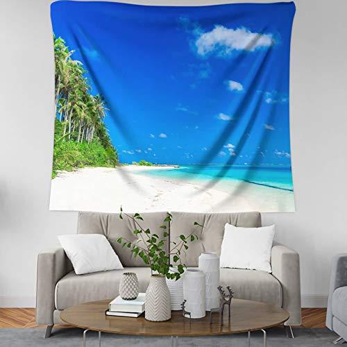Amody Tapiz de Pared y Cubrecama Suave Cocotero de Verano en La Playa Tapiz Hojas Estilo 11 Tapices para la Sala de Estar Dormitorio 200x150CM