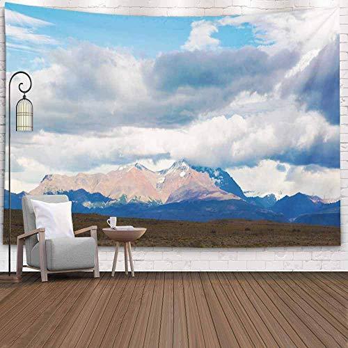 N\A Tapiz Grande, Tapiz para Colgar en la Pared Tapiz Fresco Tapiz Colorido Vistas Pendientes Picos Montañas Sur de Chile Patagonia Argentina Tapiz de Dormitorio