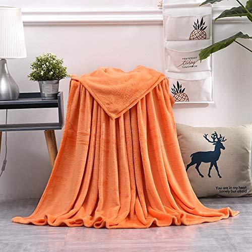 AiShengHuoAcc Manta para Cama,Manta de sofá,Manta para niños,Manta para Mascotas,Manta Transpirable (Naranja, 150x200 cm)