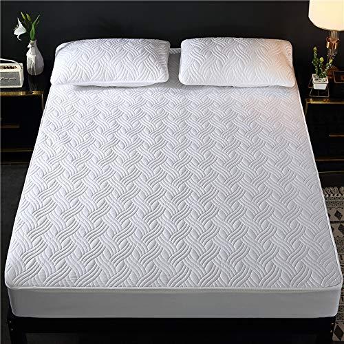 BOLO Colcha de algodón con retazos de patchwork, hecha de manta acolchada transpirable, sábanas acolchadas e impermeables con 150 x 190 cm + 15 cm
