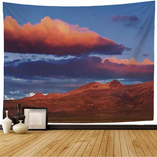 N\A Tapiz de Pared Azul Alto Desierto Montañas Bolivia Naturaleza Altitud Parques Andes Impresionante Hermoso Chile Nubes Tapiz Colgante de Pared Tapiz de Playa para decoración del hogar