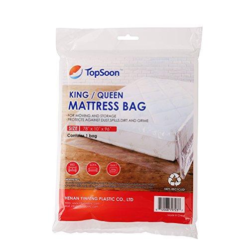 TopSoon Bolsas de colchón para Trabajo Pesado de Espesor Superior de 2 MIL 78'x96 para Guardar y Mover el colchón
