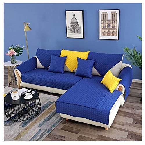 ZIXING Fashion Jacquard Fundas de Toalla de sofá Protector de Muebles Color sólido Antideslizante Cubre para Sofá Tacto Cómodo Decorativo Oscuro Azul 110 * 160cm