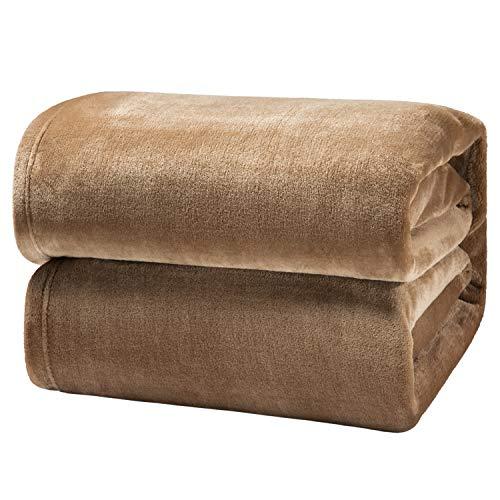 Bedsure Manta para Sofás de Franela 150x200cm - Manta para Cama 90 Reversible de 100% Microfibre Extra Suave - Manta Camella Transpirable
