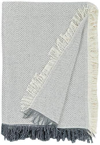 Martina Home Espiga Foulard Multiusos, Tela, Crudo/Gris, 230 x 260 cm