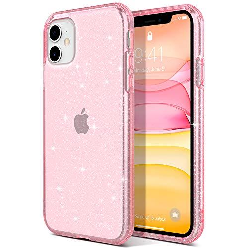 ULAK Funda iPhone 11, Carcasa a Prueba de Golpes de Estuche Parachoques de Resistente Caso de protección Suave de TPU para Apple iPhone 11 - Rosa