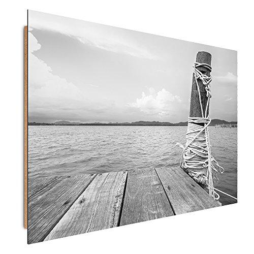 Feeby Frames, Cuadro de pared, Cuadro decorativo, Cuadro impreso, Cuadro Deco Panel, 40x50 cm, CAJA, MADERA, CORDA, BLANCO Y NEGRO