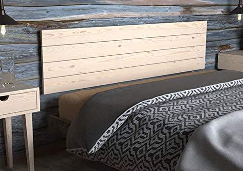 LA WEB DEL COLCHON - Cabecero de Madera Rústico Vintage para Cama de 150 (160 x 44 cms.) Crudo sin Pintar | Cabeceros Madera | Dormitorio Matrimonio | Cabezal Cama |Estilo nórdico