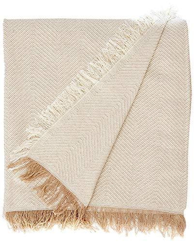 Martina Home Espiga Foulard Multiusos, Tela, Crudo/Beige, 180 x 260 cm