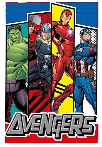 Marvel Polar de Avengers Referencia KD Mantas para Cama Colchas y cubrecamas Textiles del hogar Unisex Adulto, ABS, Multicolor (Multicolor), única