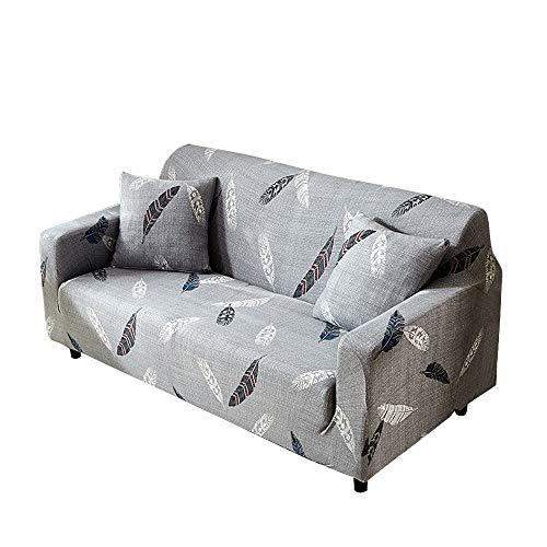 Funda para sofá con diseño moderno de 1/2/3/4 plazas, antideslizante, funda elástica para sofá y protector para mascotas, lona, pluma, 1-Seater Sofa Length 35-51In + 1pcs Free Pillowcas