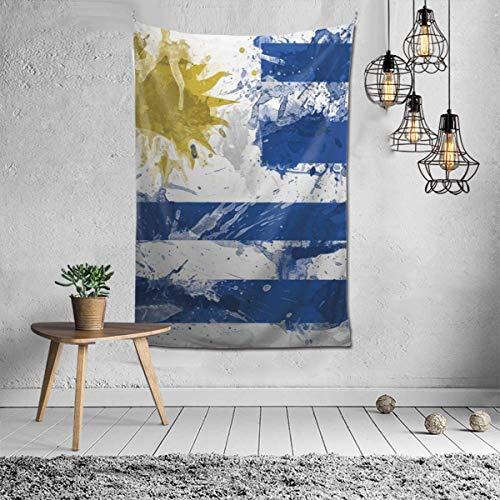 Hippie Hippy Tapiz de pared Pintura de la bandera de Uruguay Tapiz de Ombre Tapiz para colgar en la pared para arte de pared Accesorios de dormitorio Manta de mandala Manta de picnic Tapiz de dormitor