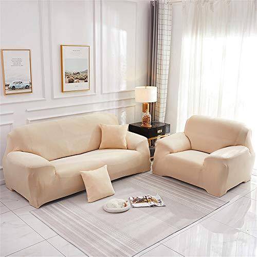 Surwin Funda de Sofá Elástica para Sofá de 1 2 3 4 plazas, Impresión Universal Cubierta de Sofá Cubre Moda Sofá Antideslizante Sofa Couch Cover Protector (champán,2 plazas - 145-185cm)