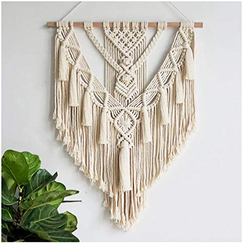 Macrame Wall Hanging Handwoven Bohemian Cotton Rope Tapestry Home Decor Boho Bohemian Woven Tapestry Wall Art Macrame Decor