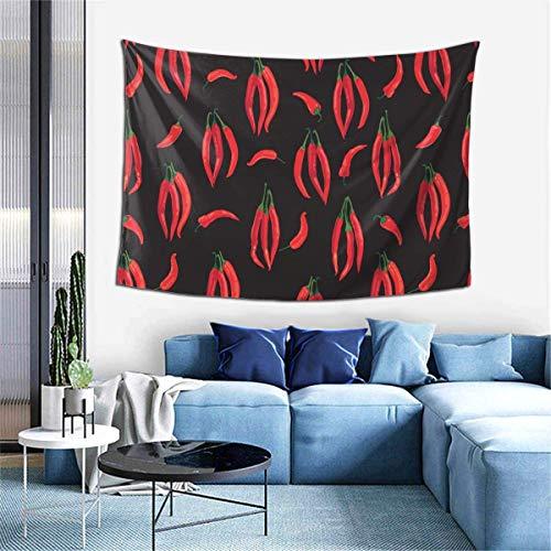 N\A Tapiz Colgante de Pared, tapices de Hilo de Chile Rojo para Dormitorio, Sala de Estar, Dormitorio, Manta de Pared, Toallas de Playa, decoración del hogar