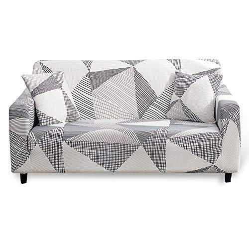 Hotniu Funda Sofa Elasticas 2 Plazas Fundas de Sofa Ajustables Fundas Decorativa para Sofá Estampadas Impresa Cubre Sofa con 1 Funda de Cojín, Modelo #MK