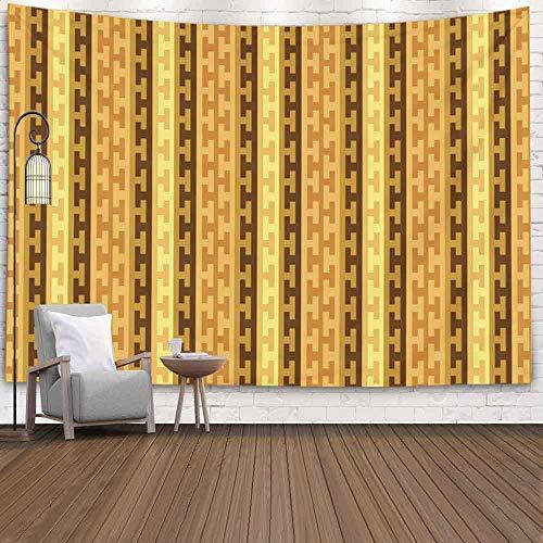 Tapiz de pared de arte, decoración de habitación de pared, decoración de dormitorio, patrón de idioma, textura de borde geométrico abstracto, estilo bohemio, adorno de Chile para sala de estar,...