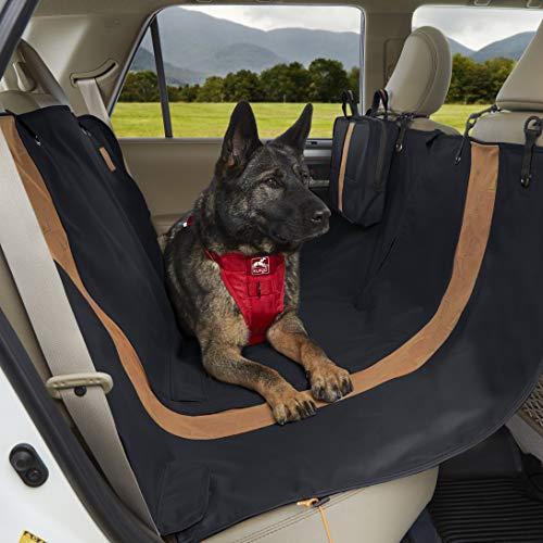 Kurgo Funda de Asiento de Coche para Perros Tipo Hamaca - Protector de Coche para Mascotas - Cubierta de Asiento de Coche Impermeable - Estilo Wander - Negro