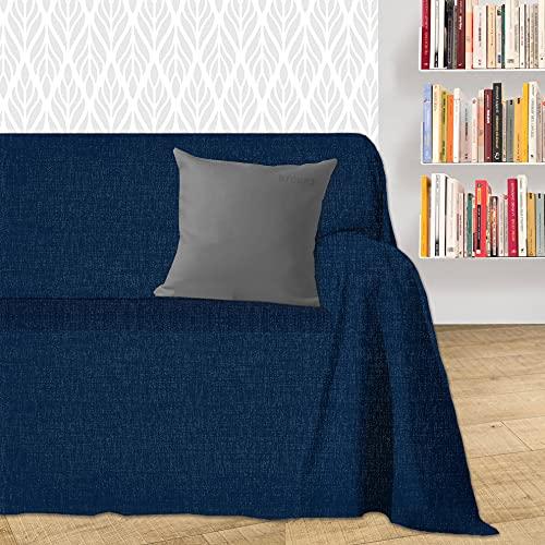 Byour3® Funda De Sofá Algodón 1 2 3 4 Plazas Ligero Granfoulard Tela Sofa Cubre Todo Protector De Sofás Forma de L U Chaise Longue Derecho Izquierdo Lavable (Azul Marino Dakar, 1 Plaza)