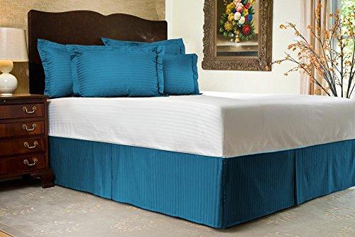 Comodidad beddings 1pieza cubre canapé 14'drop Longitud de 600hilos Euro rey IKEA tamaño 100% algodón egipcio diseño de rayas, turquesa, Euro KingIKEA