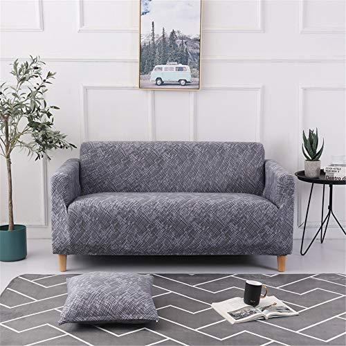 Surwin Funda de Sofá Elástica para Sofá de 1 2 3 4 plazas, Impresión Universal Cubierta de Sofá Cubre Sofá Funda Furniture Protector Antideslizante Sofa Couch Cover (Textura,1 Plaza - 90-140cm)
