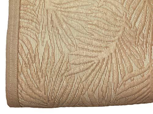 NORA HOME Colcha Piqué Palm Hojas de Jacquard. Todas Las Medidas (Lino, Funda Cojin 50x50 cm)