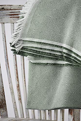 Textilhome - Funda Multiusos Foulard Cubre Cama Dante - 180x285 cm - para Funda Sofa 2 Plazas, Protector Cubre Sofa. Color Verde Oscuro