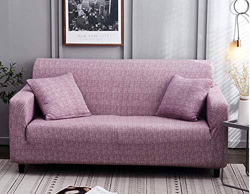 Funda de sofá 1 2 3 4 plazas Estilo Europeo Todo Incluido Universal Cubierta Antideslizante en Tejido elástico Extensible Protector de sofá Para sala de estar dormitorio púrpura 4 plazas: 235-300...