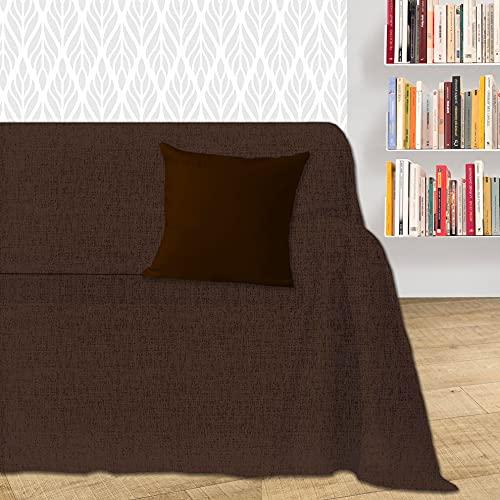 Byour3® Funda De Sofá Algodón 1 2 3 4 Plazas LIGERO Granfoulard Tela Sofa Cubre Todo Protector De Sofás Forma de L U Chaise Longue Derecho Izquierdo Lavable (Marrón Dakar, 2 plazas)