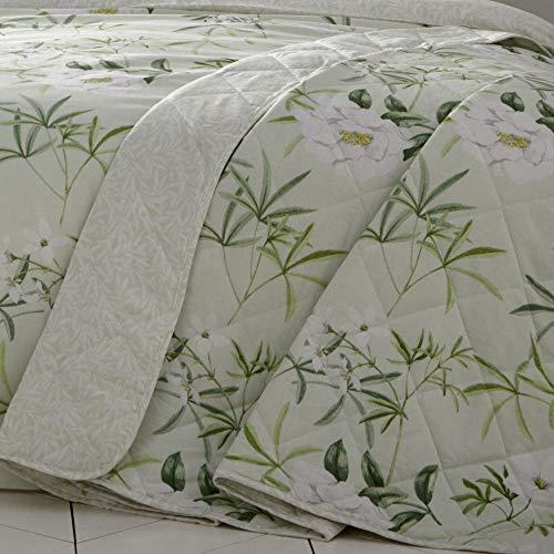 Dreams & Drapes - Colcha (52% poliéster, 48% algodón, 229 x 195 cm), Color Verde